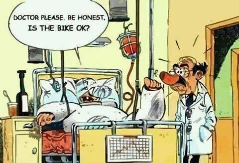Doctor is the bike okay