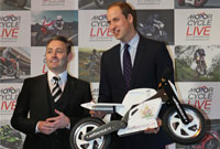HRH Prince William Duke of Cambridge at Motorcycle Live