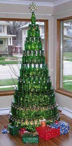 The perfect Christmas tree - Beer bottle Christmas tree