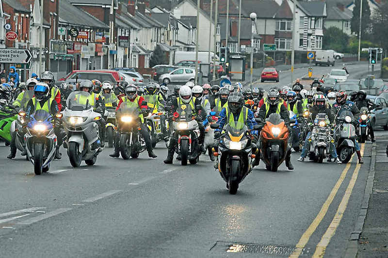 s Harley Davidson wish fulfilled as 400 bikes ride out
