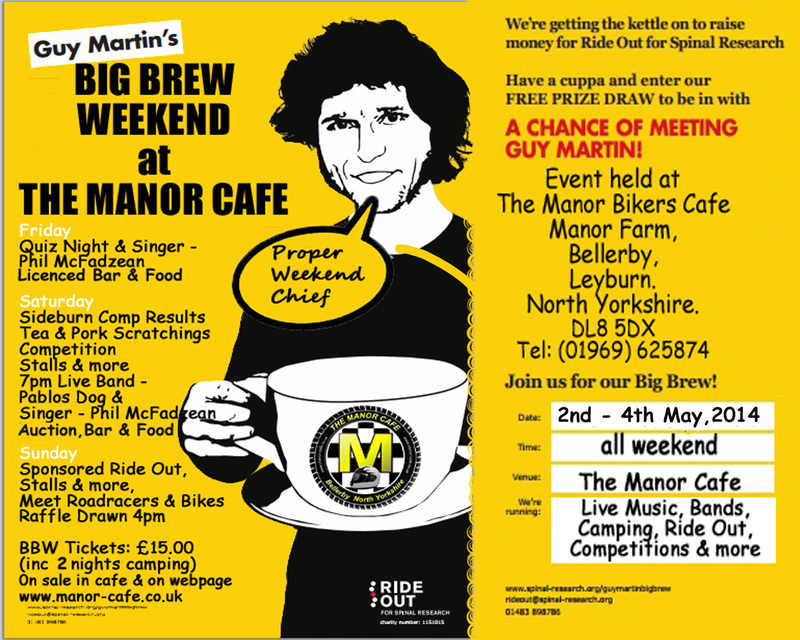 Guy Martins Big Brew Weekend at The Manor Bikers Cafe