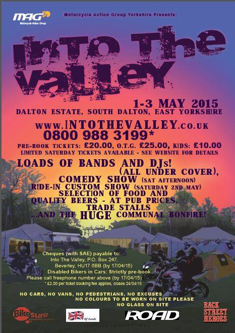 Into the Valley, Motorcycle Action Group , Beverley, East Yorkshire, 2015