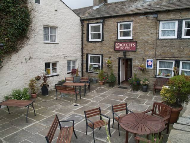 Cocketts Hotel, Bikers welcome, Hawes, North Yorkshire,