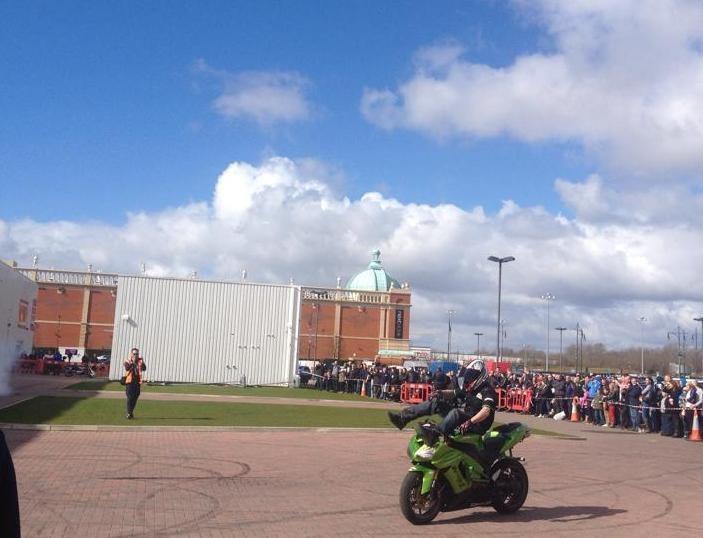 Manchester Bike Show Stunts and sunshine