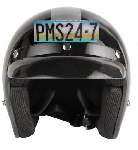Helmet number plate