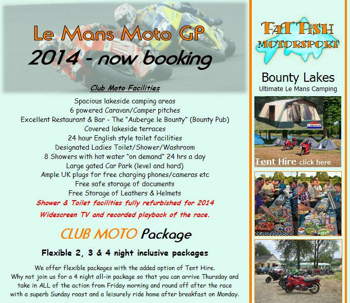 Le Mans Camping, Bounty Lakes, Bikers welcome, Teloche, France, Moto gp