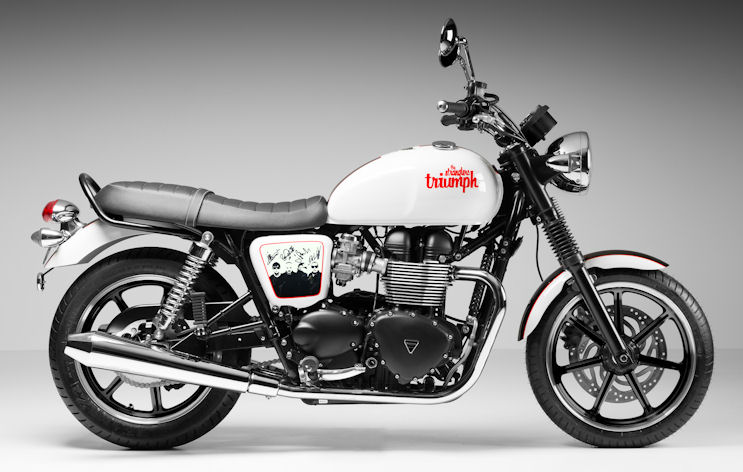 Special edition Triumph Bonnevile - The Stranglers