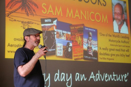 Sam Manicom's Adventure Motorcycle Travel Books, author talks,