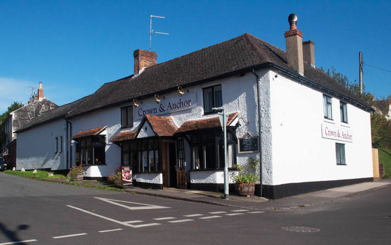 The Crown and Anchor, Bikers welcome, pub, Ramsbury, Marlborough, Wiltshire