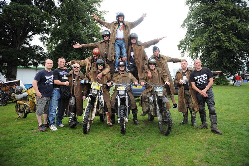 The Purple Helmets with Ago at Carole Nash Great Scottish Bike Show