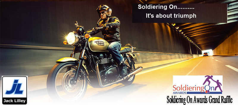 Soldiering On Awards Grand Raffle - Win a Triumph Bonneville
