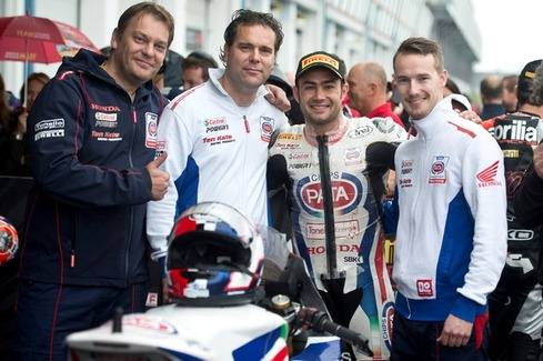 Haslam back to the podium with Pata Honda