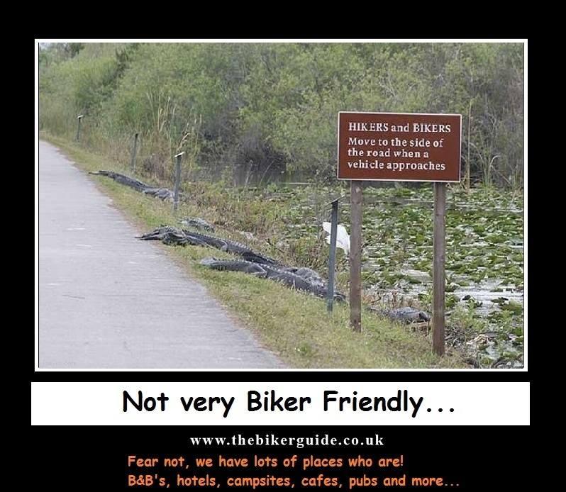 Not very Biker Friendly - Fear not