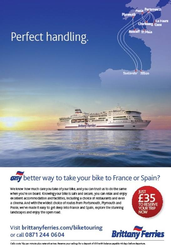 THE BIKER GUIDE - 4th edition, Brittany Ferries