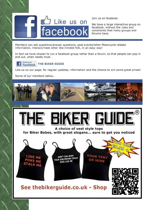 THE BIKER GUIDE - 4th edition, facebook, ladies biker babe tops