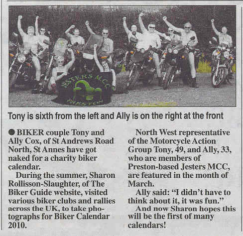 Jesters MCC Tony Cox Ally Lytham St Annes Express