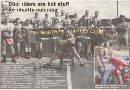 Warrington Guardian Debbie & Chris Allen, Biker Calendar