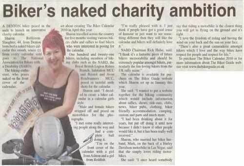 Tameside Reporter Biker Calend 2010 Press Release