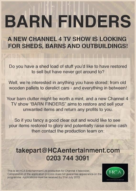 A new tv show is looking for Sheds, Barns and outbuildings, to restore and