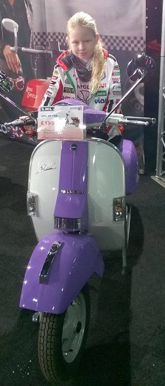 Tilly at the Manchester Bike Show 2015,
