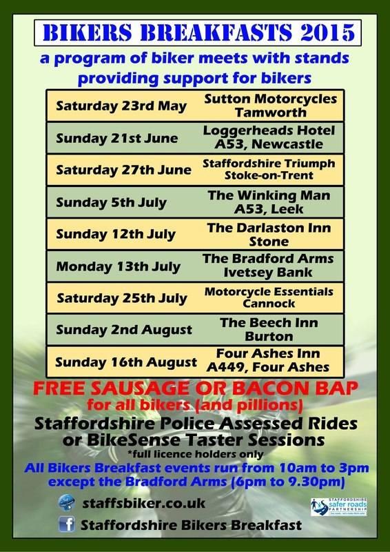 Bikers Breakfast, Staffordshire Safer Roads Partnership