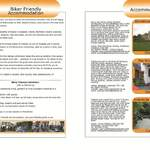 THE BIKER GUIDE - 2nd edition, booklet sample pages, accommodation
