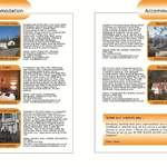 THE BIKER GUIDE - 2nd edition, booklet sample pages, accommodation scotland