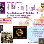 4 Balls in Hand, Event, Live bands, disco, Rugby, Warwickshire