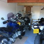 Cuckoo Clock Lodge, Biker Friendly, Rhayader, Powys, garage