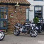 Red Lion, York - Triumph Yorvic Vikings Owners Club after a ride out and in