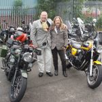 The Distinguished Gentlemans Ride in Manchester, Mikey and Poppy