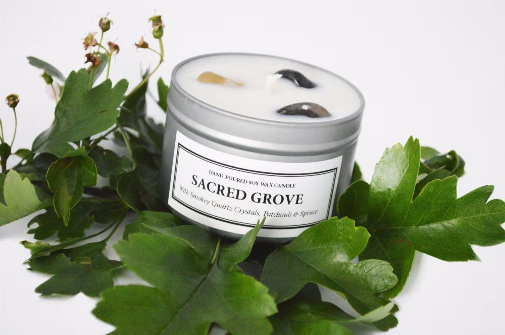 Sacred Grove Soy Candle Tin