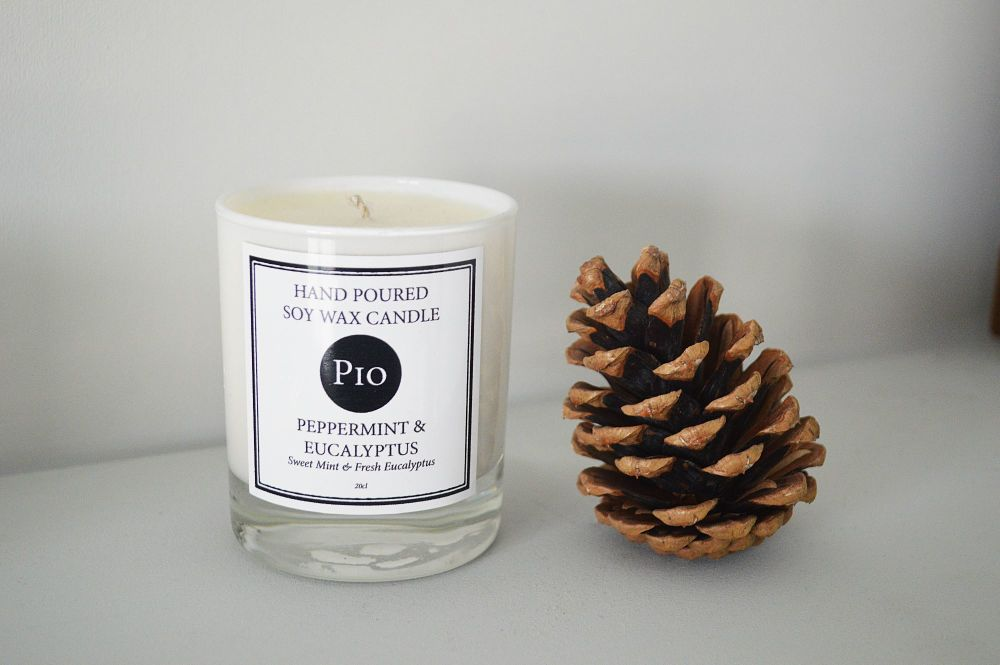 Soy Candle - 20cl - Peppermint & Eucalyptus - Gift Boxed