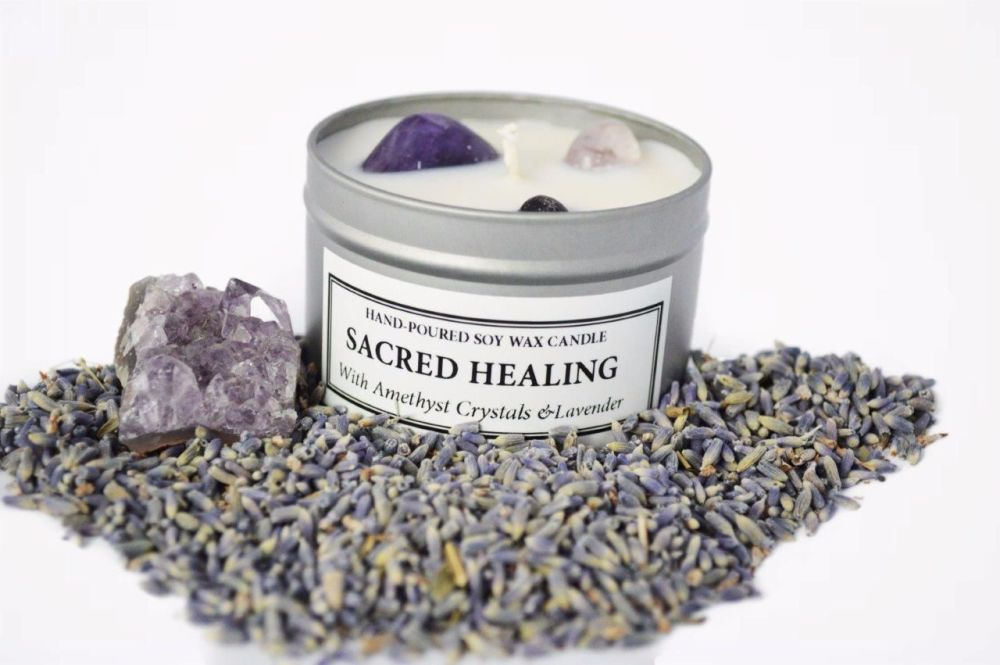 Sacred Healing Soy Candle Tin