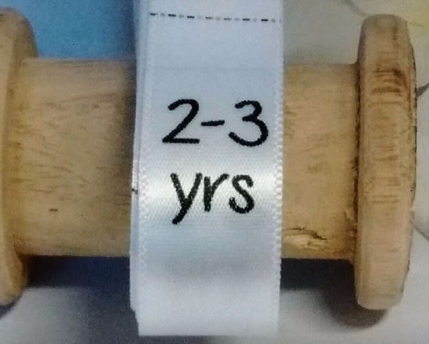 Sizing Labels