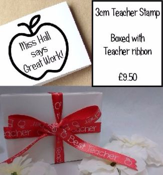 Teacher Stamp and Gift Box/Ribbon