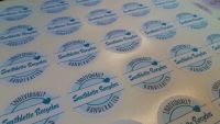 35mm full colour printed stickers