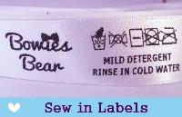 Sew in Satin Labels