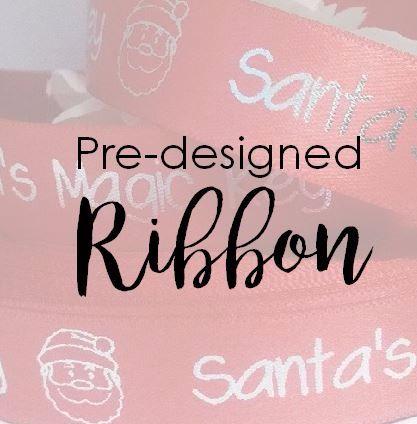 Pre-designed Ribbon