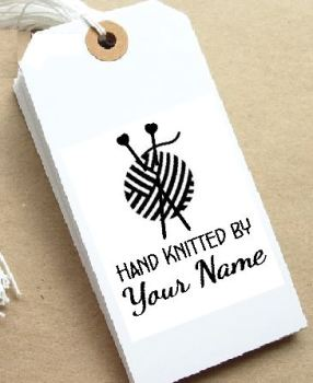 Knitting Personalised Stamp