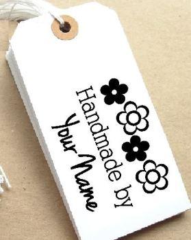 Retro Flower Personalised Stamp