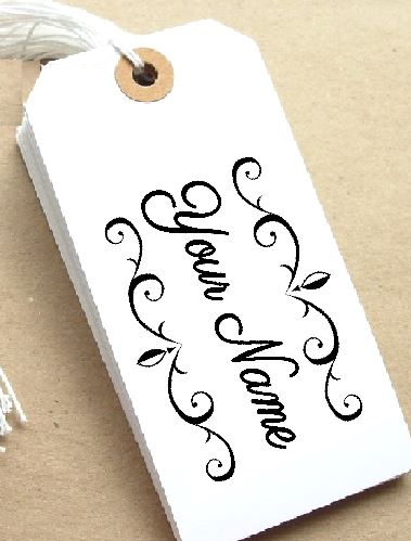 Scroll Personalised Stamp