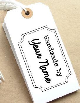 Handmade by Personalised Stamp