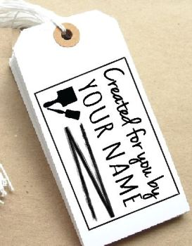 Paintbrush Personalised Stamp