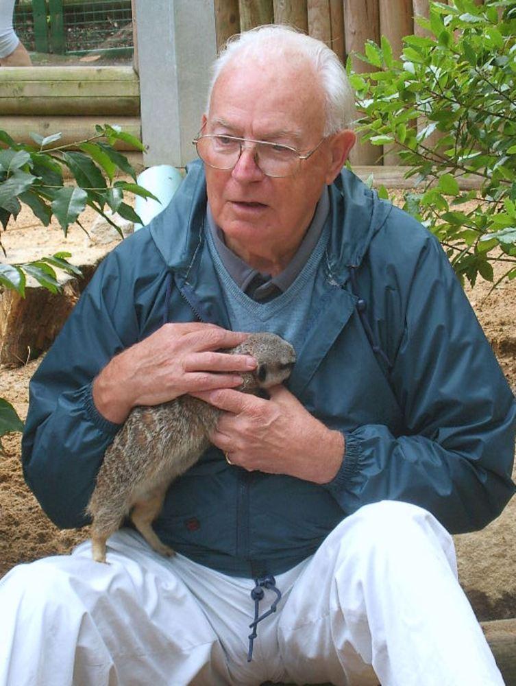Dad loved his meerkat experience at Paradise Wildlife Park