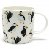 Seashore puffin parade mug