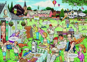 Best of British - The Cricket Match 1000 piece jigsaw puzzle
