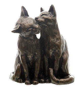 Bronze Sculpture, Yum Yum Cat and Friend