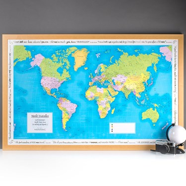 Personalised Places We Have Been - World Map