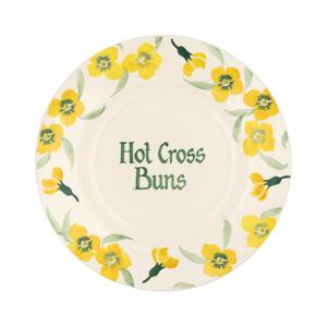 "Personalised Yellow Wallflower 8 1/2"" Plate"